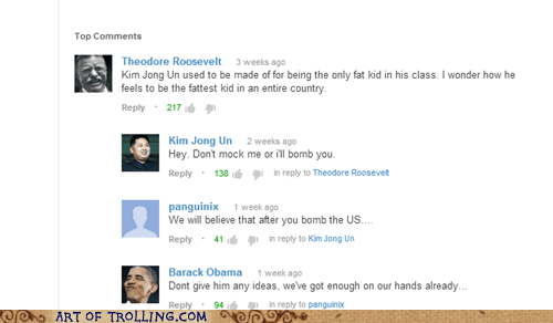 youtube comments,barack obama,teddy roosevelt