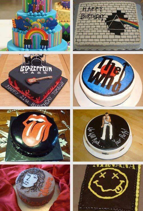 led zeppelin,Music,pink floyd,cakes,bands