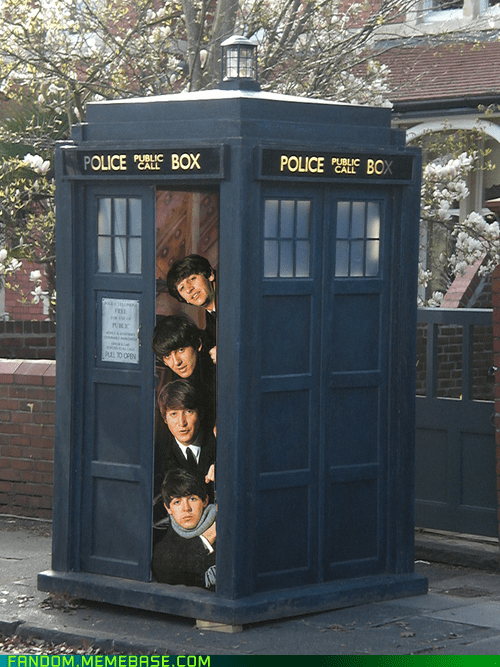 crossover Music beatles tardis doctor who British - 7556697344