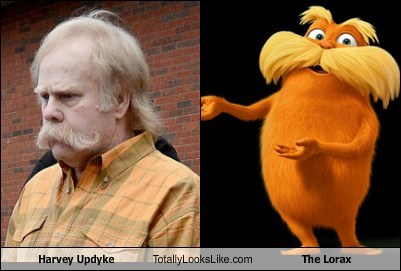the lorax,totally looks like,mustaches,funny,harvey updyke
