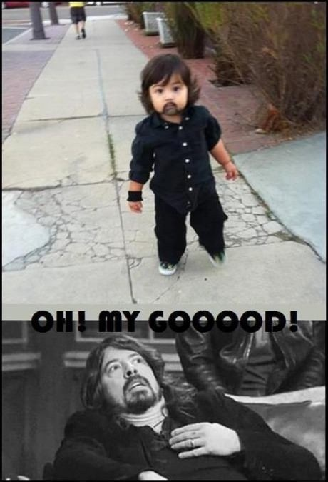 Babies Dave Grohl cute - 7557954816