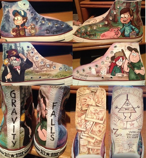shoes Fan Art gravity falls cartoons - 7558272256
