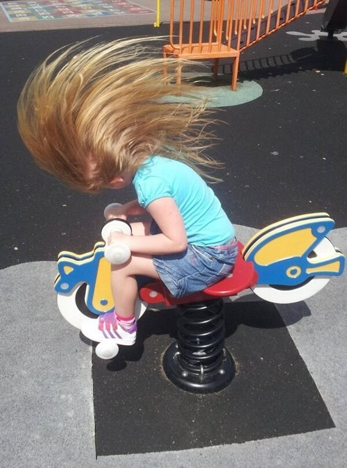 long hair kids playgrounds funny g rated parenting - 7558353408