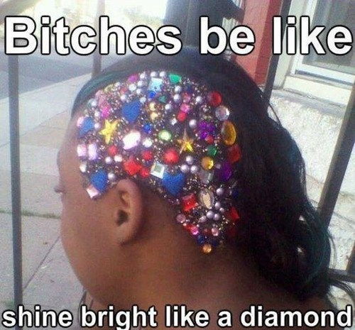 weird hair song lyrics bedazzled rihanna funny