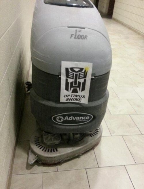 transformers,puns,optimus prime,funny,floor buffer