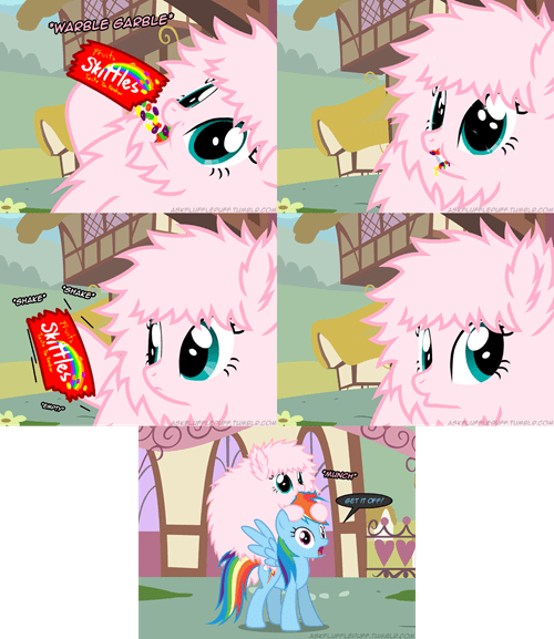 fluffle puff comics skittles rainbow dash - 7558611968