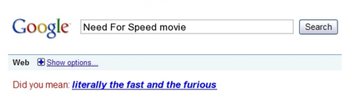 Fast and the Furious,need for speed