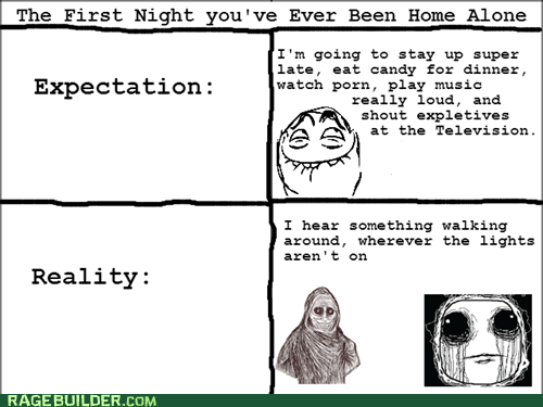 Home Alone,ghosts,expectation vs reality