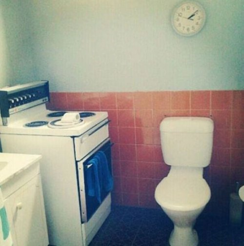 Awkward bathroom kitchen funny