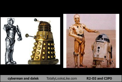 r2d2,C3PO,star wars,daleks,totally looks like,doctor who,funny