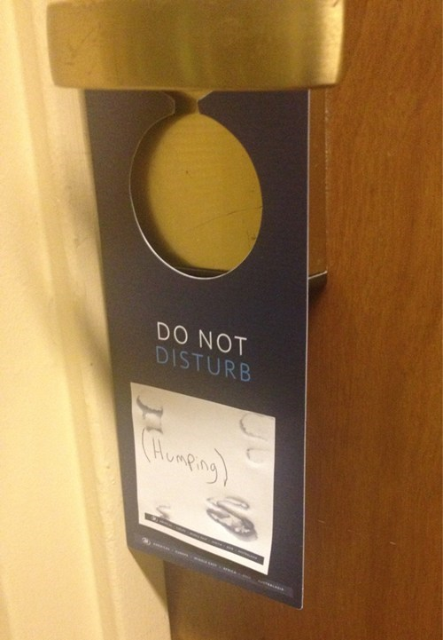 sign hotel do not disturb funny - 7559686400