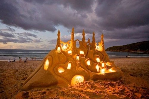 sand castle summer design beach funny