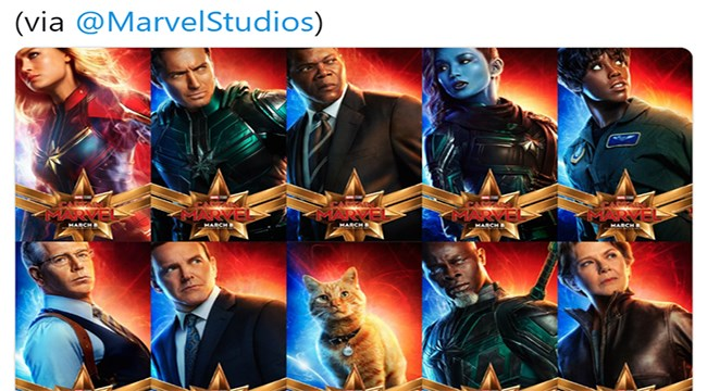 movie poster movies captain marvel Cats - 7560965