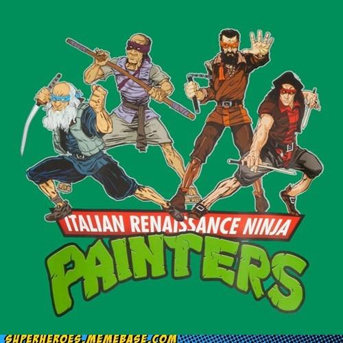 art TMNT ninjas painters funny - 7561356288