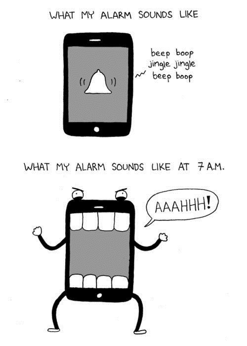 phone alarms mornings not a morning person funny waking up g rated AutocoWrecks - 7561775360