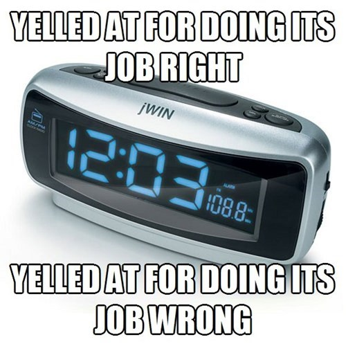 alarm clock,bad luck,funny