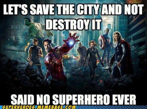destruction,city,superheroes,funny,avengers