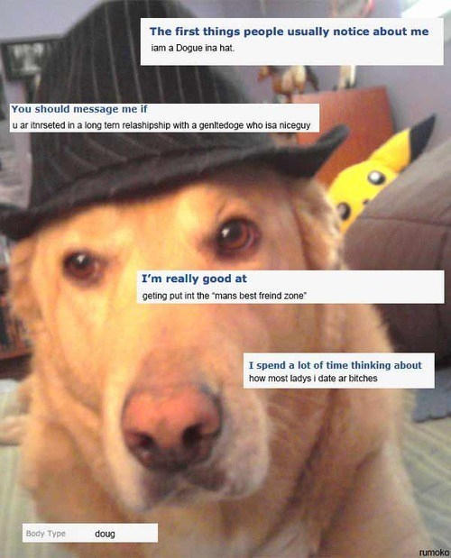 dogs,okcupid,fedora,online dating,dating