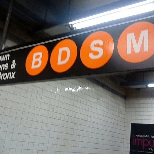 bdsm Subway new york city