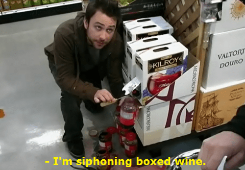 its-always-sunny,charlie,boxed wine,funny
