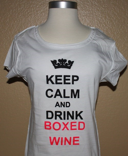 T.Shirt boxed wine funny keep calm poorly dressed g rated - 7562073856