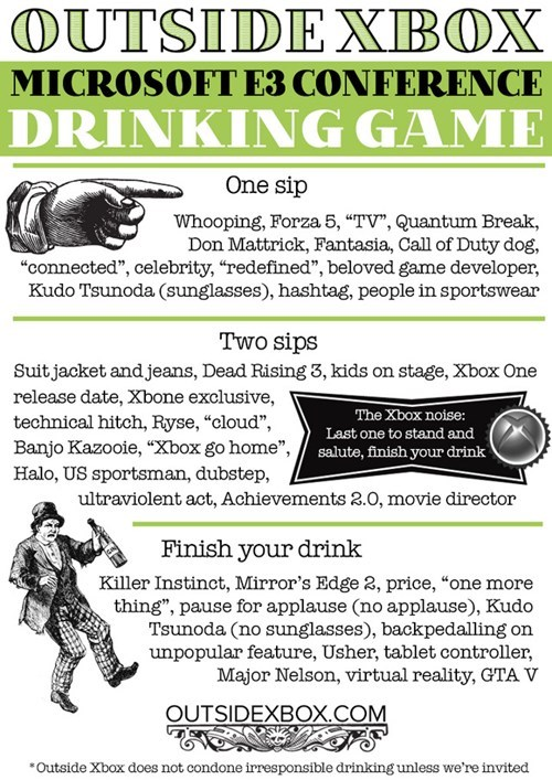 e3 drinking game xbox funny - 7562140416