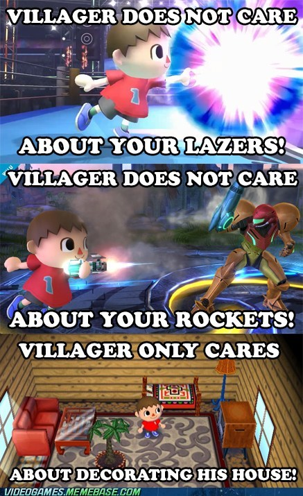 E32013,super smash bros,creepy animal crossing villager