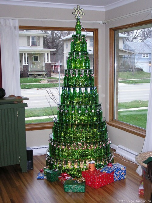 beer christmas tree awesome funny - 7562488064