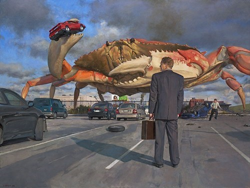 wtf art crabs traffic