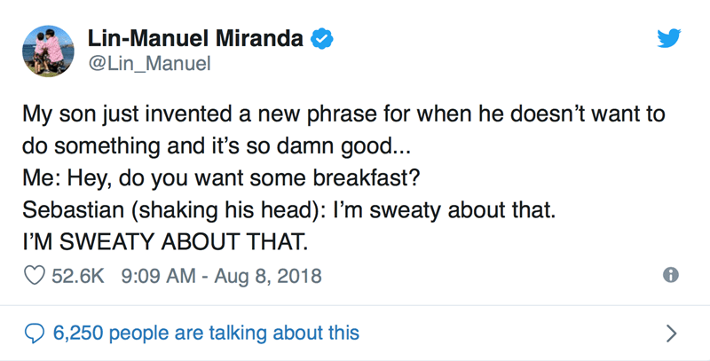 Wholesome Lin-Manuel Miranda tweets about parenting