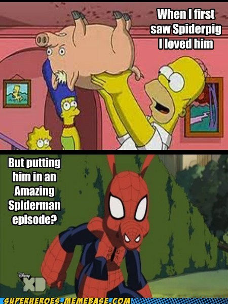 Spider-Man simpsons spiderpig funny - 7564224768