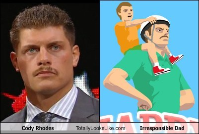 dads,fathers day,totally looks like,funny,cody rhodes