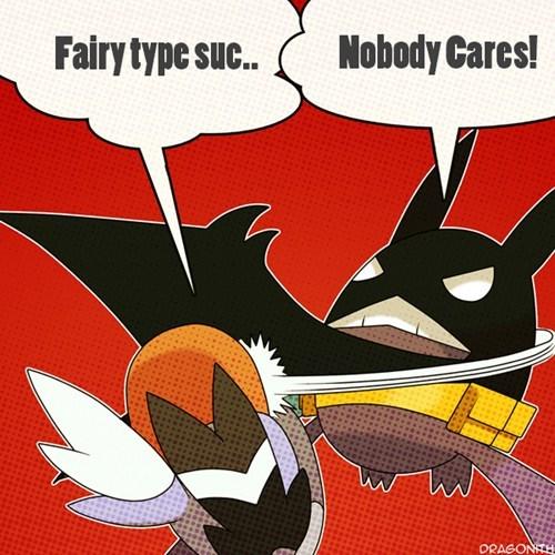 Pokémon,fairy types,crobatman,Memes,funny