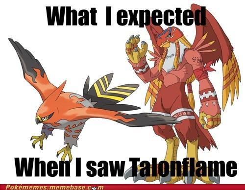 Pokémon talonflame trolololol digimon - 7564290816