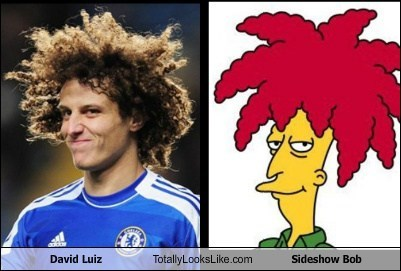 david luiz totally looks like Sideshow Bob - 7564922368