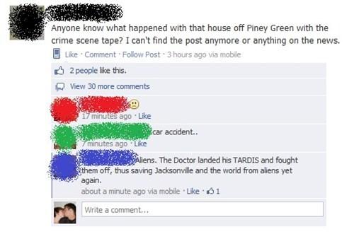 facebook doctor who crime scenes - 7564935424