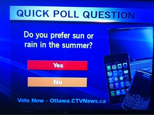 poll,news,live news,summer,seasons,rain,monday thru friday,g rated