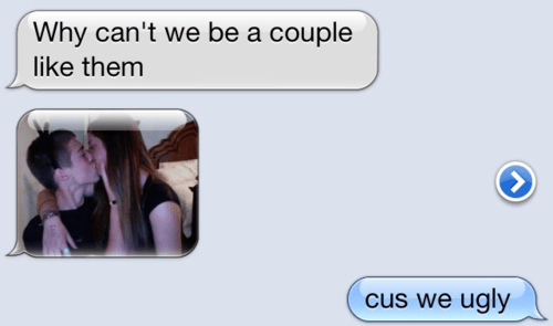 couples texting ugly dating