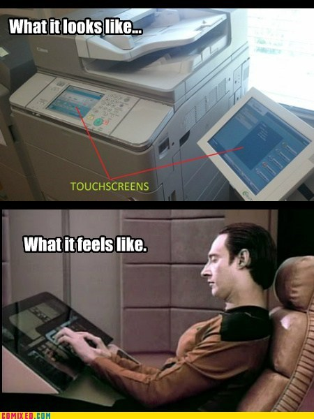 technology sad but true Star Trek funny copiers - 7565400064