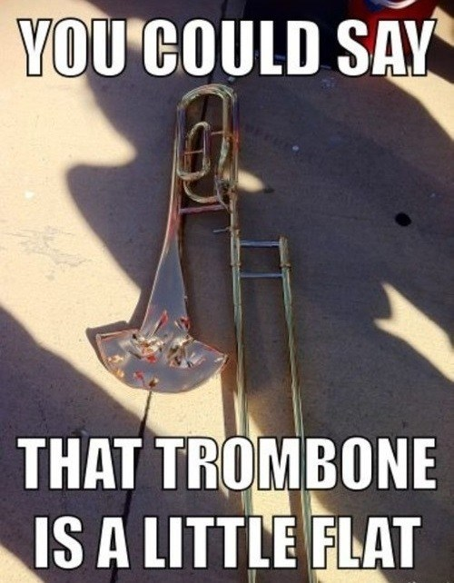 Music,trombones,puns,marching band,funny,g rated