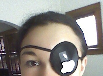 puns,eyepatch,apple,funny