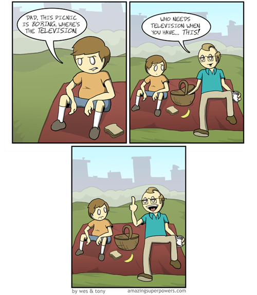 picnic amazing superpowers comics parenting webcomics - 7565627648