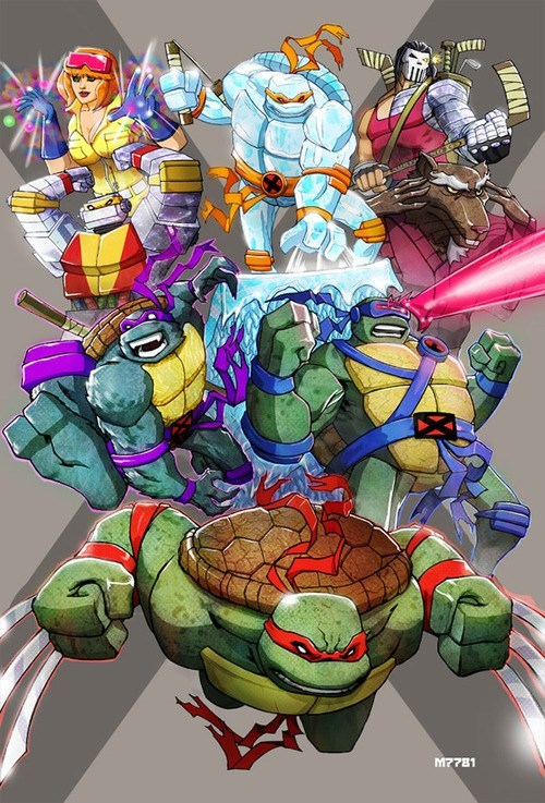 art TMNT x men amazing funny - 7565806592