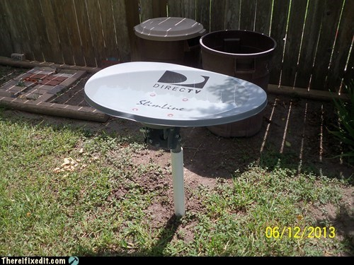 satellite tv bird bath directv funny - 7565819136