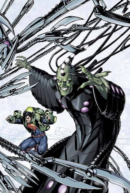 off the page,braniac,weird,superman