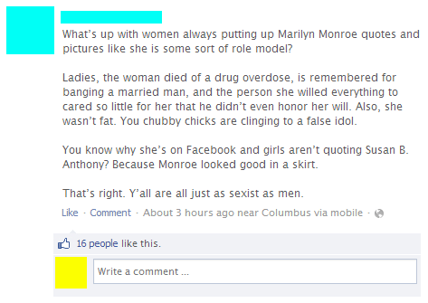sexism quotes susan b anthony feminism jfk marilyn monroe sexist failbook - 7566229504