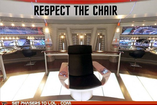 captains chair Star Trek funny - 7566265600