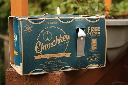 beer beer can of the week church key beer - 7566636288