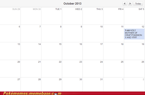 Pokémon calendars pokemon x/y release dates - 7567035136