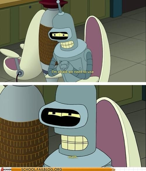 bender,futurama,math,funny